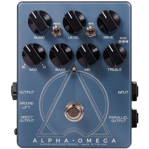 Image of Darkglass Electronics Darkglass Alpha Omega Bass Pre-Amp and Overdrive (AO)