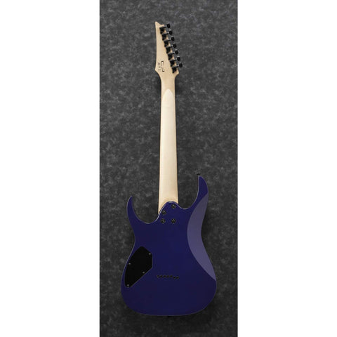 Image of Ibanez GRG 7 String Solid-Body Electric Guitar, Right, Transparent Blue Burst, Full (GRG7221QATBB)