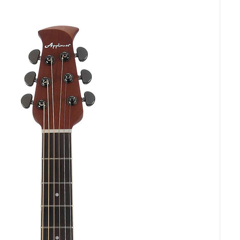 Image of Ovation Applause 6 String Acoustic-Electric Guitar, Right, Black, Mid-Depth (AE44II-5)