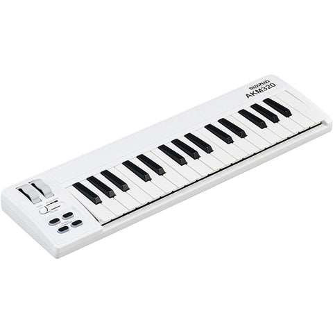 Image of midiplus AKM320 32 key MIDI Keyboard Controller, white