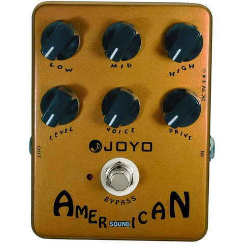 Image of JOYO JF-14 American Sound Overdrive Guitar Pedal from Original Sound to Overdrive Pedal Amplifier Simulation 57 Deluxe AMP Pedal Effect