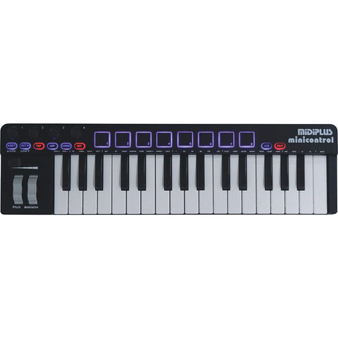 Image of midiplus, 32-Key minicontrol USB MIDI Keyboard Controller (Renewed)