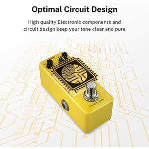 Donner Yellow Fall True Bypass pedal efecto guitarra, vintage, análogo