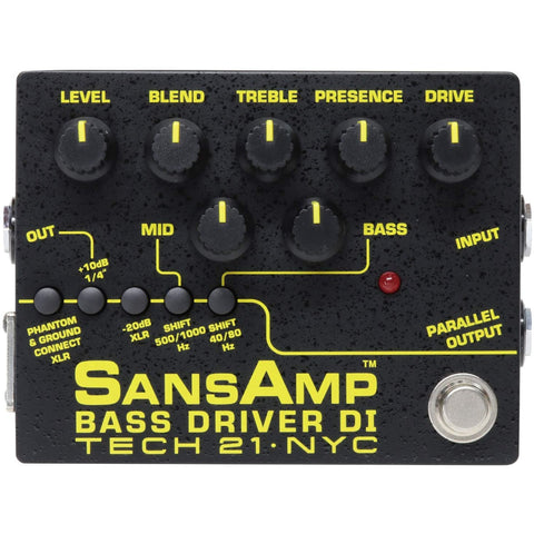 Tech 21 SansAmp Bass Driver DI Effects Pedal