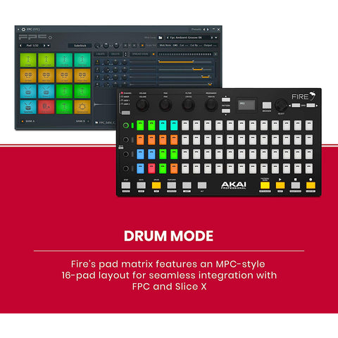 Akai Professional USB MIDI Controller for FL Studio with 64 RGB Clip/Drum Pad Matrix (Fire)