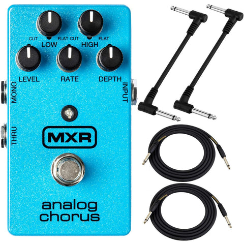 Image of MXR M234 Analog Chorus Pedal Bundle with 4 Cables