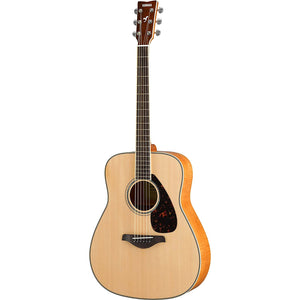 Yamaha FG840 Solid Top Acoustic Guitar, Flamed Maple