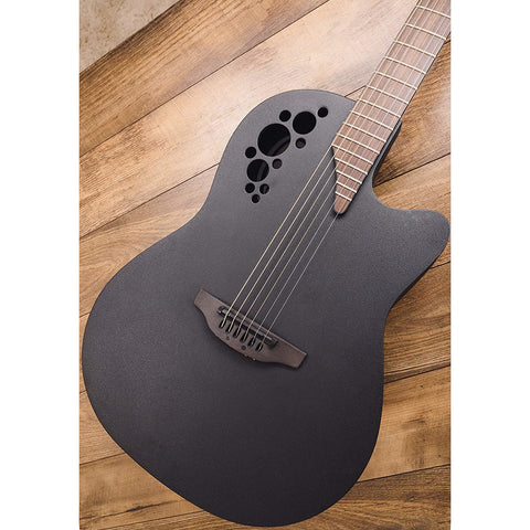 Image of Ovation Mod TX Collection Acoustic-Electric Guitar, Textured Black, Mid Depth Body (1778TX-5)