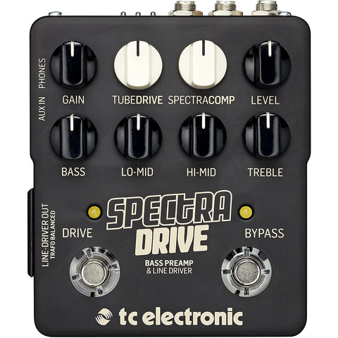 TC Electronic Spectradrive-Bass Preamp and Drive Pedal (960828005)