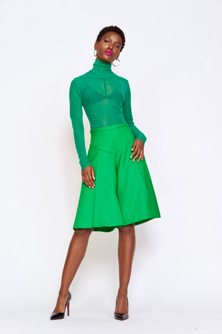 kelly green sheer turtleneck