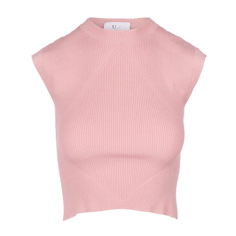 Pink cap sleeve muscle tank women
