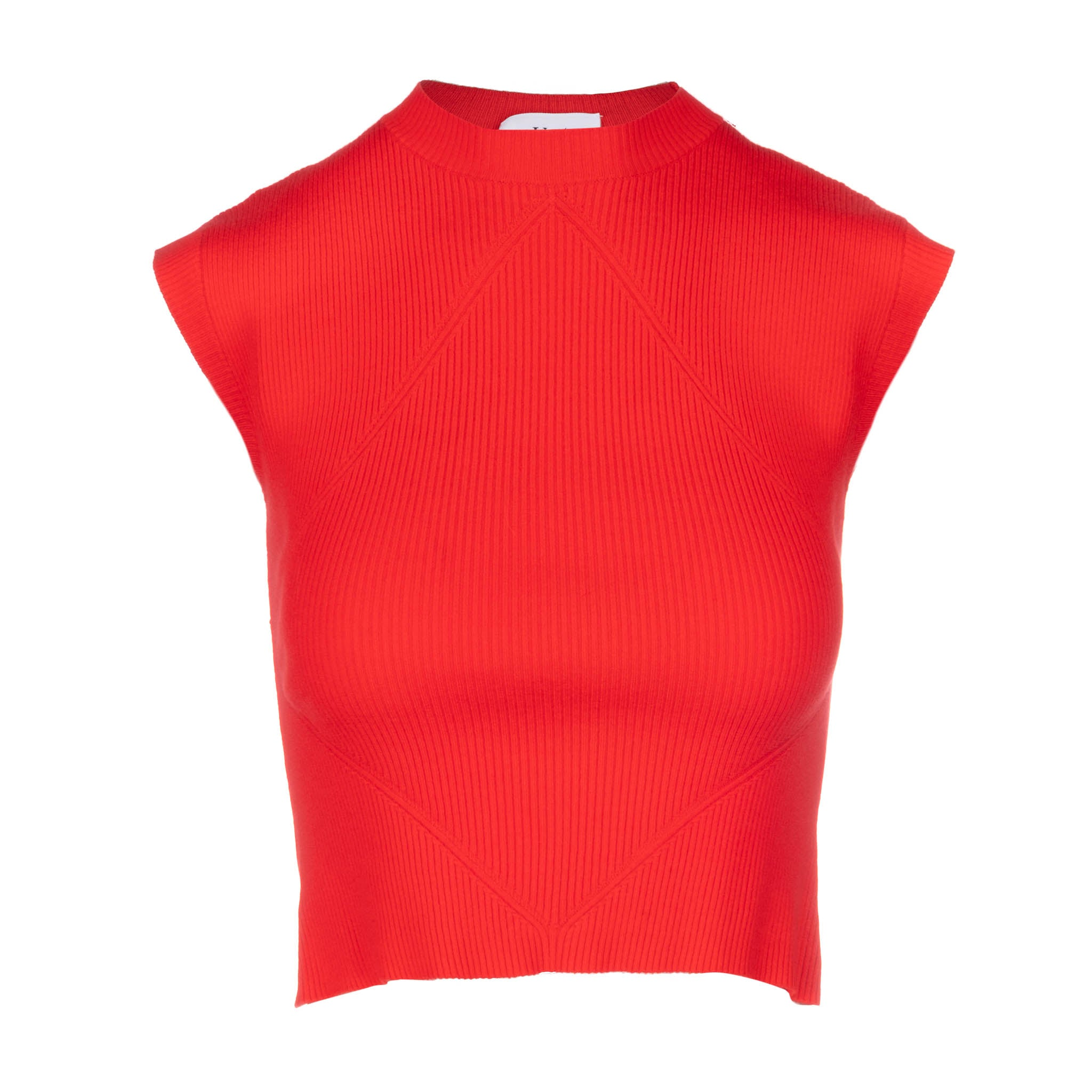 red knit  cap sleeve muscle tank women