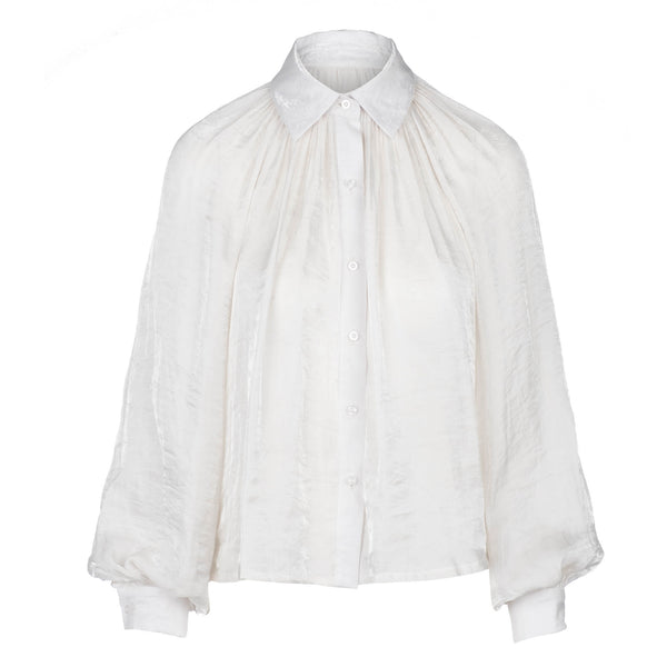 White exaggerated sleeve blouse