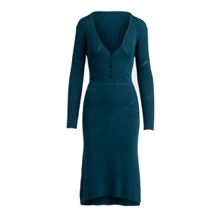 The Irma Sweater Dress - Teal