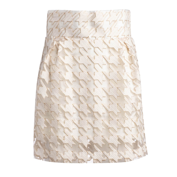 RUNWAY: BOLD HERRINGBONE MINI SKIRT