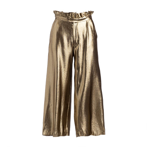 RUNWAY: BIRTHDAY GOLD PAPERBAG PANT