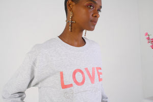 LOVE grey heather sweatshirt