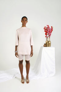 Biltmore Lurex Knit Tunic - Pinkish