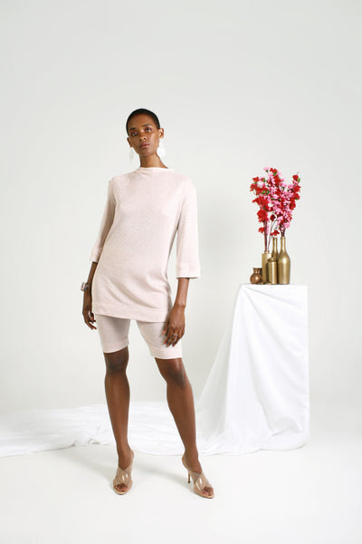 Biltmore Lurex Knit Shorts - Pinkish