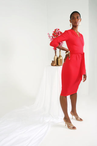 2020 Joi Dress - Coral