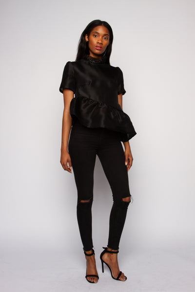 RUNWAY: Silk Gazar Asymmetric Top
