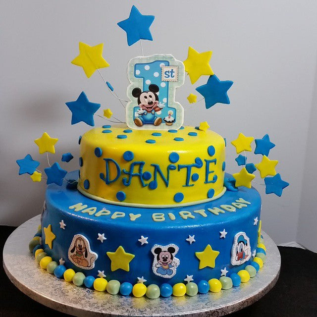Admirable Mickey Mouse Themed Birthday Cake Smoochies Creations Funny Birthday Cards Online Unhofree Goldxyz