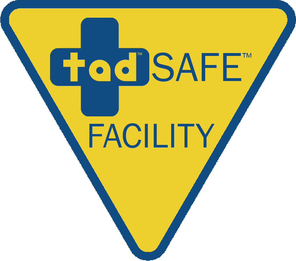 "TadSafe Facility Sign 12"" x 12"""