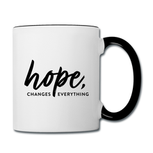 Load image into Gallery viewer, CHE Hope Changes Coffee Mug - white/black