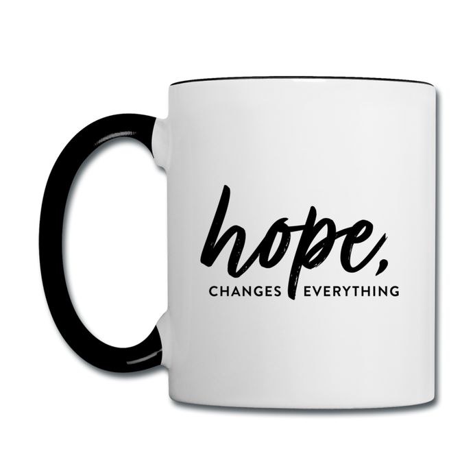 CHE Hope Changes Coffee Mug - white/black