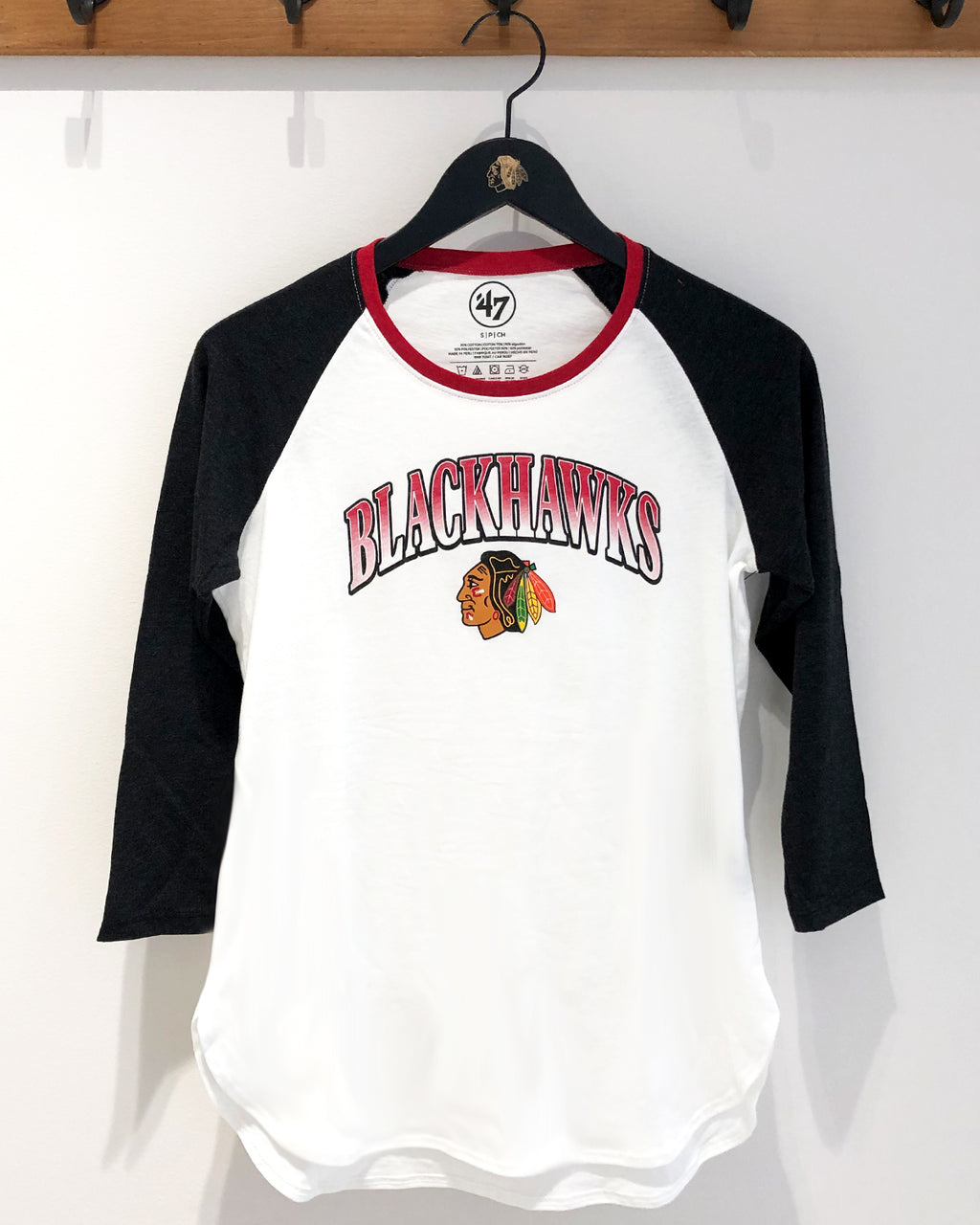 Ladies 47' Raglan Split Tee