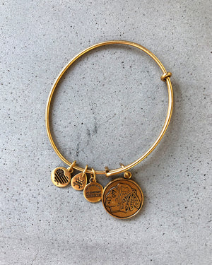 Alex & Ani Gold Primary Logo Bracelet