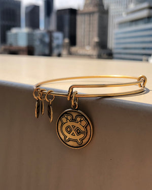 Alex & Ani Gold Secondary Logo Bracelet