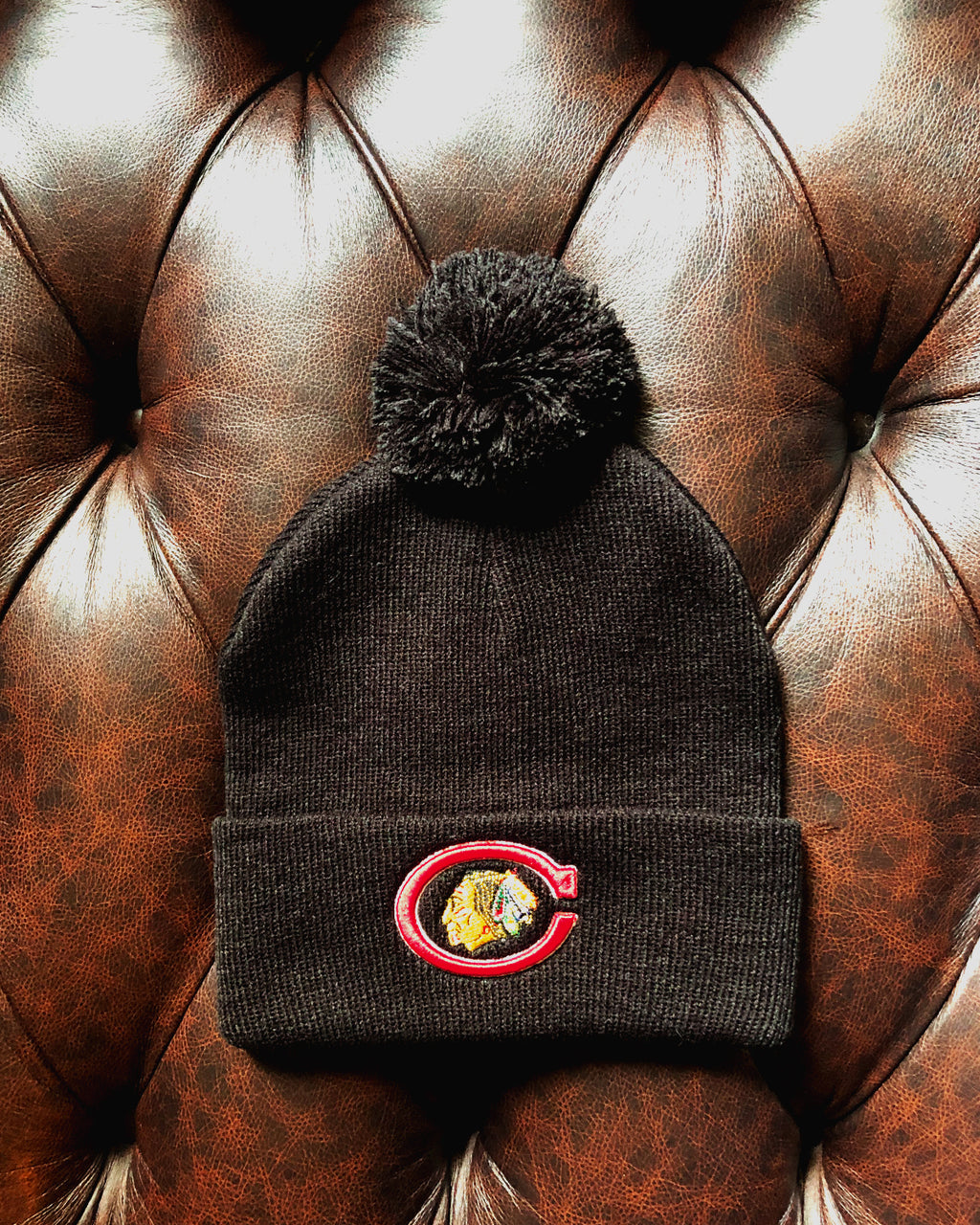 Archive Collection Black C Primary Knit Hat