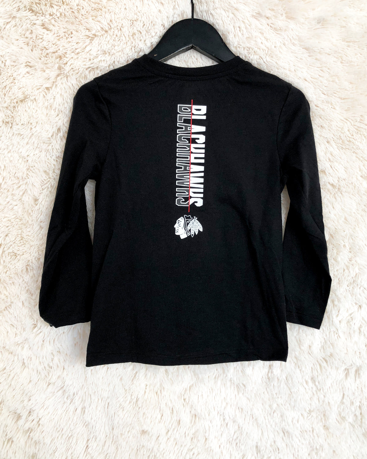 Juvenile Outerstuff Black Wordmark Long Sleeve