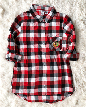 Ladies Concepts Sports Plaid Button Down