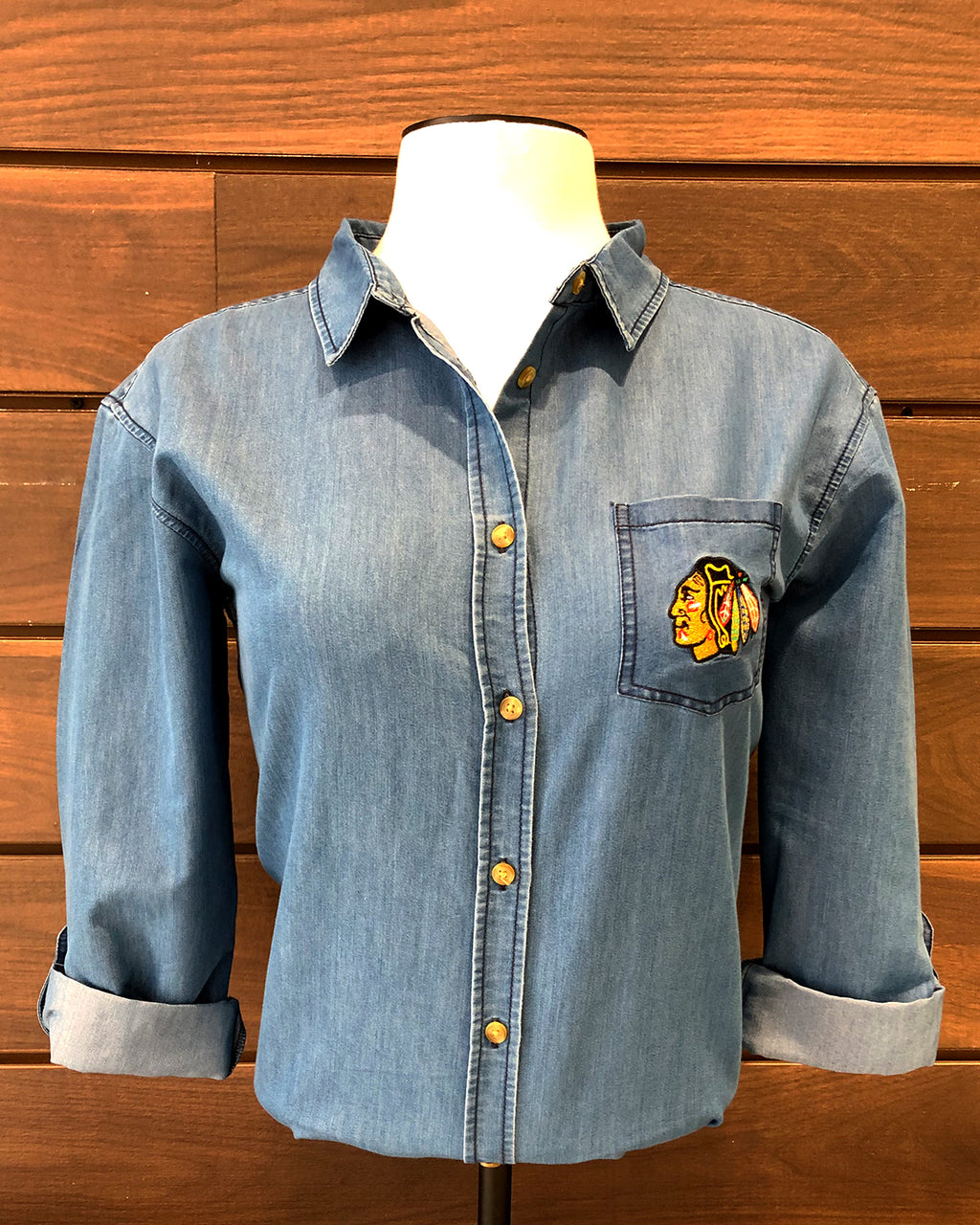 Ladies UG Apparel Denim Button Down