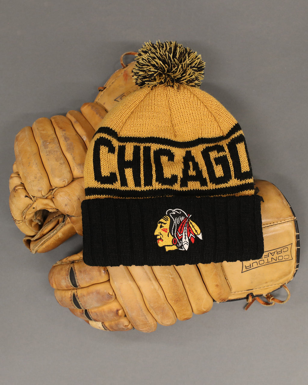 Archive Collection Gold Chicago Knit Hat