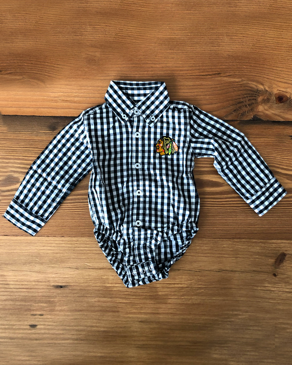 Infant Wes & Willy Plaid Button Down