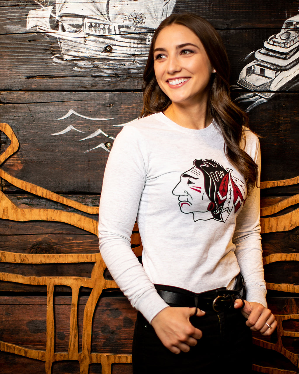 Archive Collection Ladies Red Feather Long Sleeve