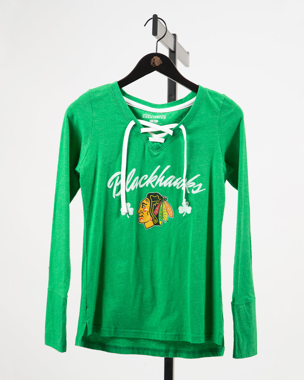 Ladies Beantown St. Patrick's Day Green Long Sleeve
