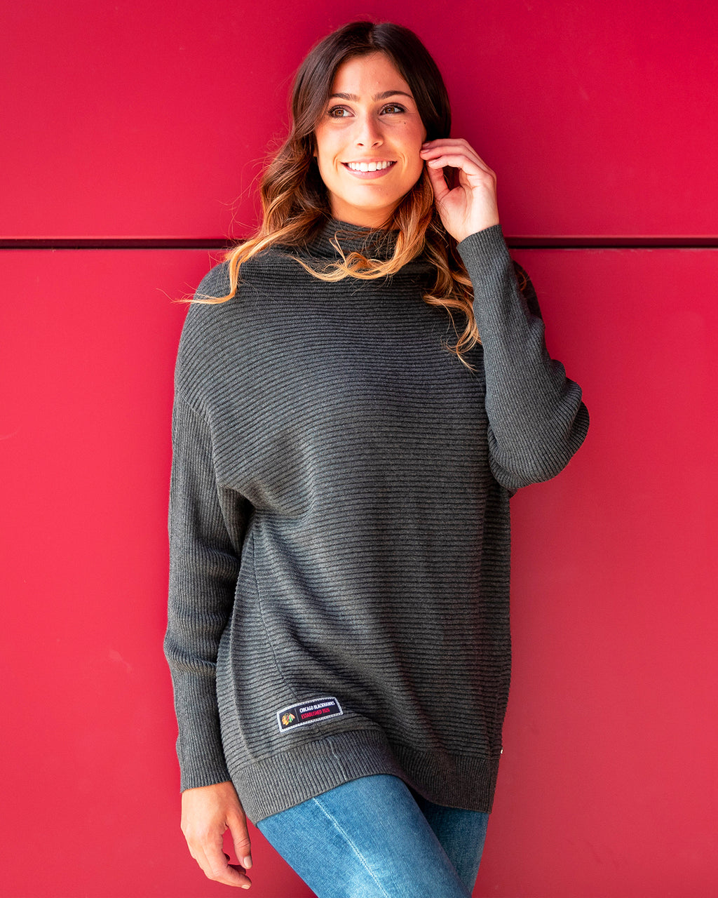 Ladies Levelwear Gray Hope Sweater