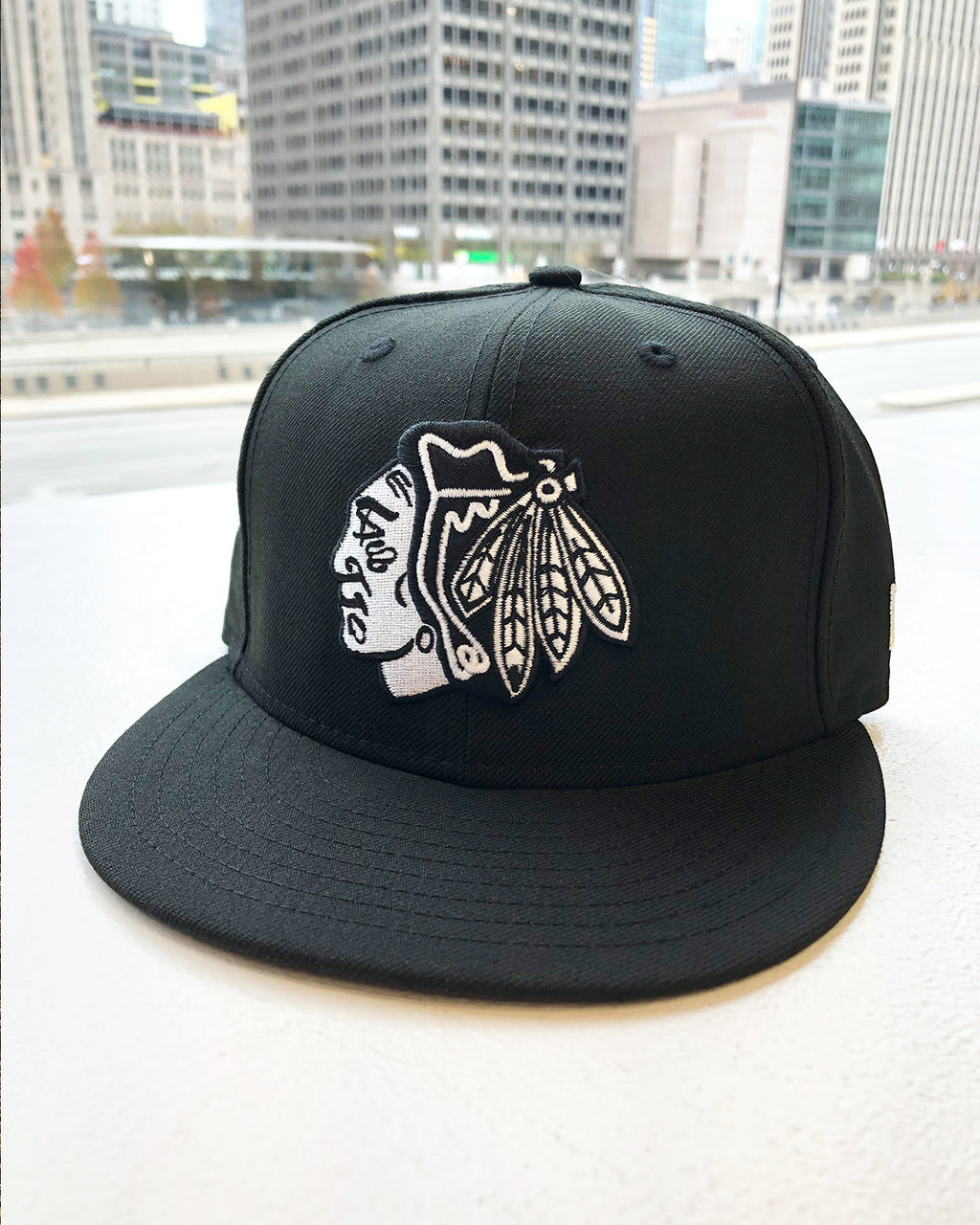 New Era Black & White Fitted Cap