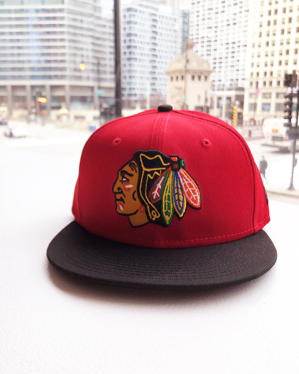 New Era Red & Black Fitted Cap