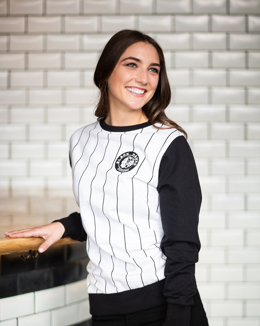 Archive Collection Pinstripe Crewneck