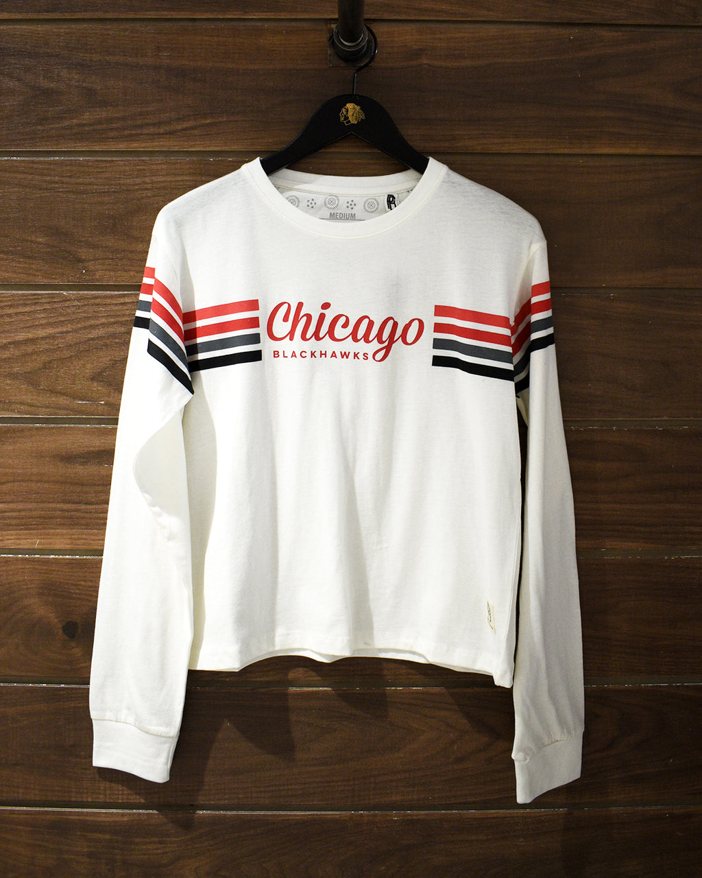 Ladies Pressbox 4 Stripe Long Sleeve