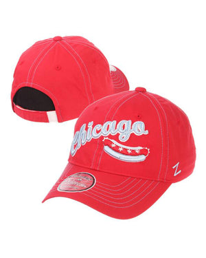Chicago Dogs Zephyr Womens Feisty Script Wordmark Adjustable Slouch Hat