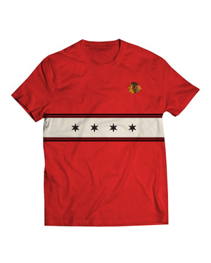 Blackhawks Stars Red Tee