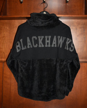Ladies Spirit Jersey Black Cowl Neck Pullover