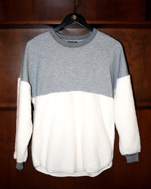 Ladies Spirit Jersey Two-Tone Cream Pullover