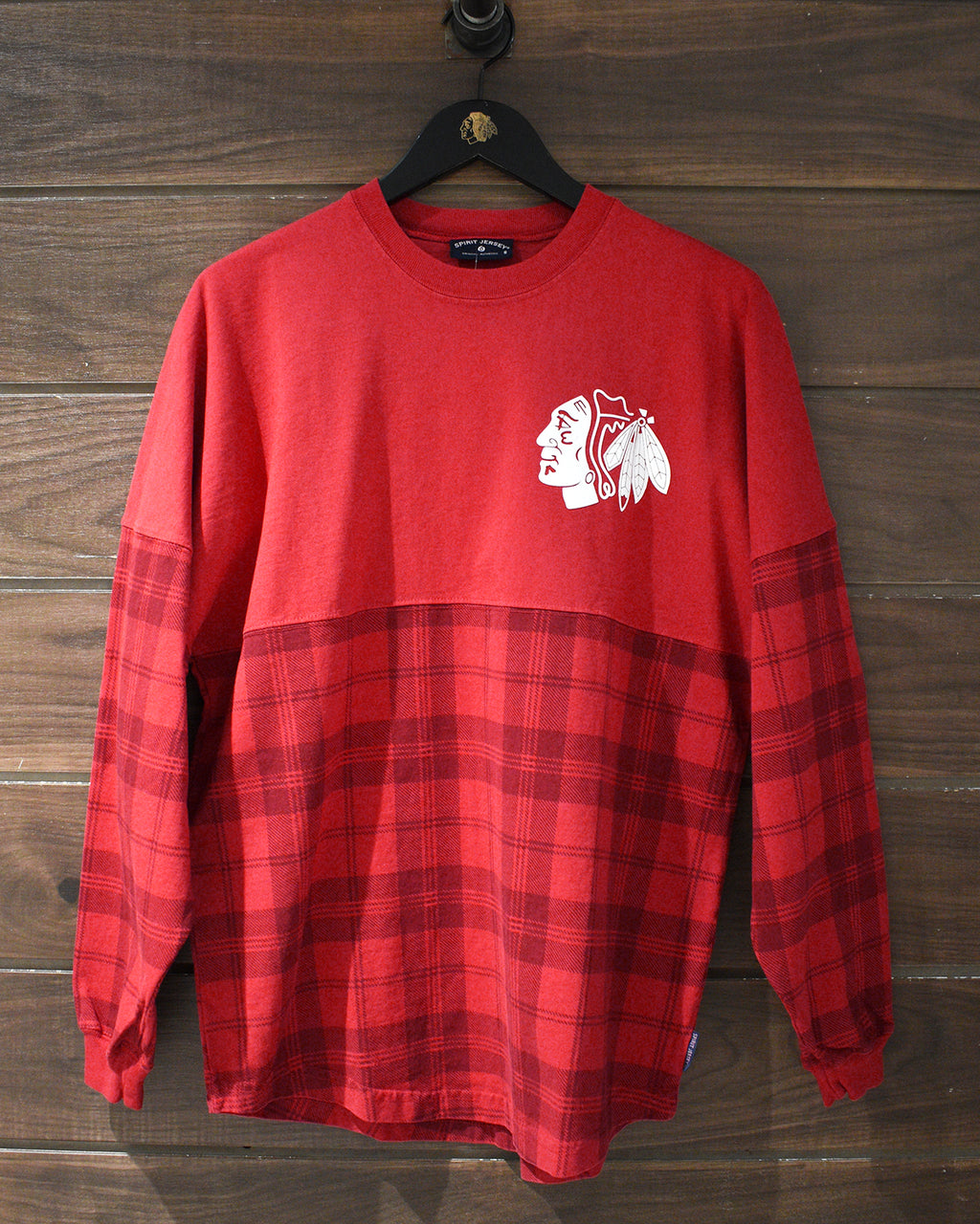 Ladies Spirit Jersey Plaid Long Sleeve